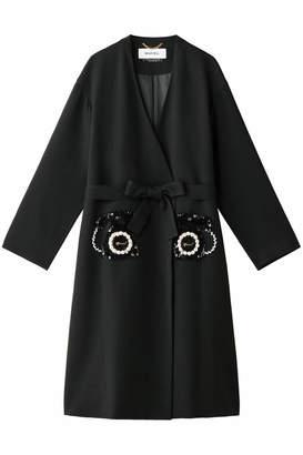 Muveil (ミュベール) - ミュベール 電話刺繍ノーカラーコート