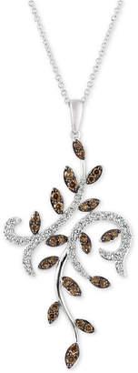 LeVian Le Vian Chocolatier Diamond Vine Pendant Necklace (9/10 ct. t.w.) in 14k White Gold