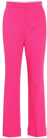 Iana high-rise wool-blend pants