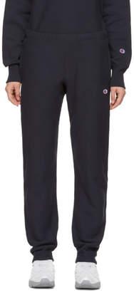 Champion Reverse Weave Navy Small Logo Lounge Pants