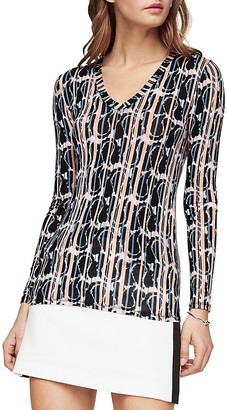 BCBGMAXAZRIA Jan Abstract-Print Top $88 thestylecure.com