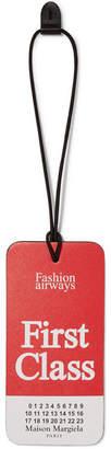 Maison Margiela Printed Leather Luggage Tag - Red