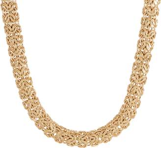 "14K Gold 18"" Bold Byzantine Necklace, 30.0g"