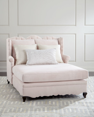 Haute House Bella Blush Tufted Back Chaise