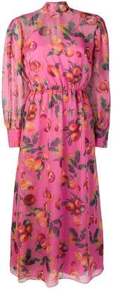 MSGM fruit print long dress