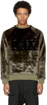 Kokon To Zai Brown Faux-Fur Logo Sweatshirt