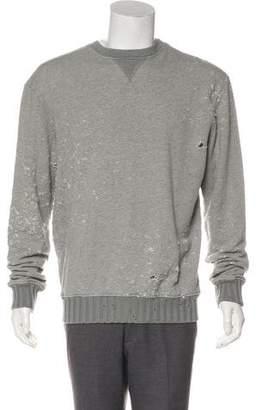Amiri Distressed Crew Neck Sweatshirt w/ Tags