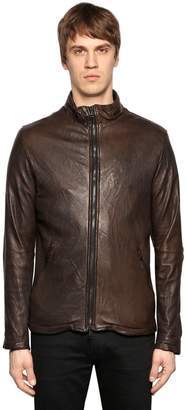 Giorgio Brato Double Zip Smooth Leather Jacket