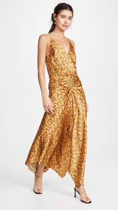 Jonathan Simkhai Hammered Silk Dress