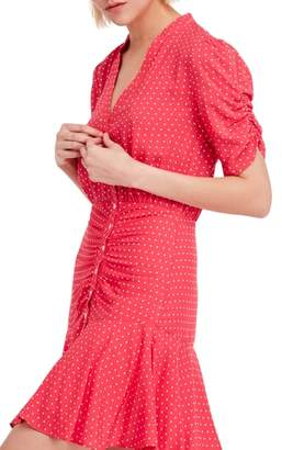 Free People Pippa Polka Dot Print Minidress