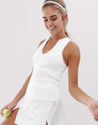 South Beach tennis vest in white