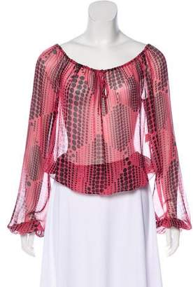 Diane von Furstenberg Silk Long Sleeve Top