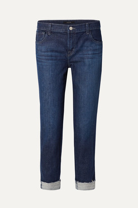 J Brand Johnny Boyfriend Jeans - Dark denim