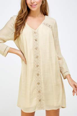 Lyn Maree's Crochet Lace Trim Dress