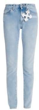 Off-White Logo-Charm Skinny Jeans