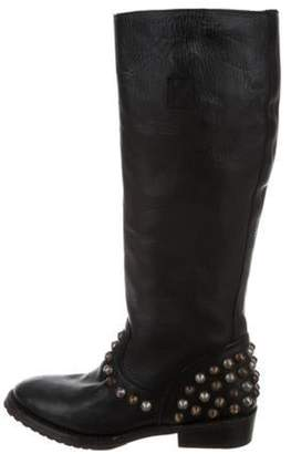 Ash Studded Knee-High Boots Black Studded Knee-High Boots