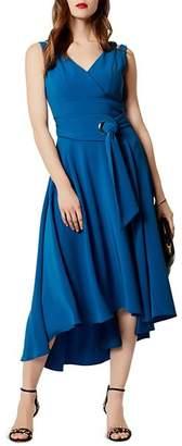 Karen Millen Belted High/Low Midi Dress