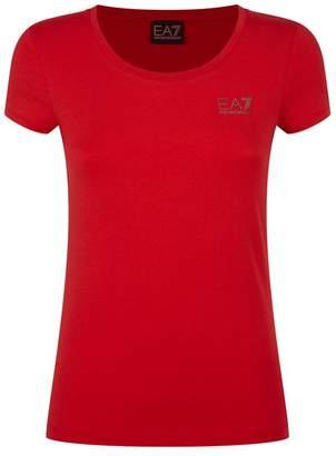 Giorgio Armani Ea7 Embellished Logo T-Shirt