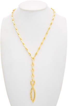 Robert Lee Morris Collection Plated Long Link Chain Y-Necklace