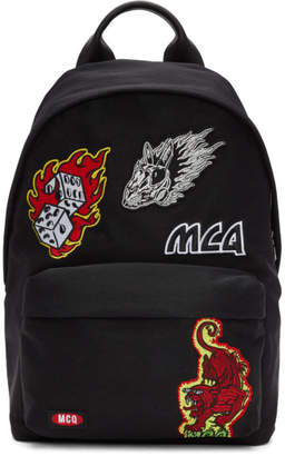 McQ Black Patches Classic Backpack