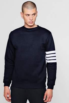 boohoo Stripe Detail Crew Neck Sweater