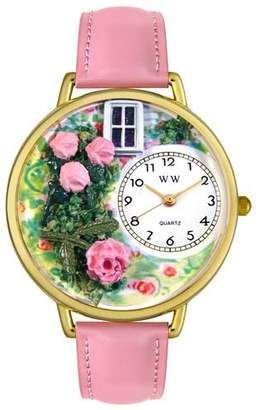 Whimsical Watches Unisex G1210005 Roses Pink Leather Watch