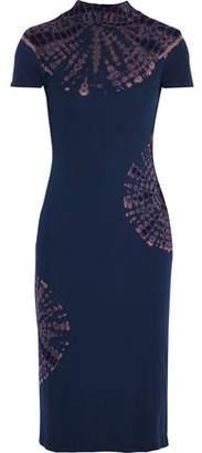 Kain Label Carey Striped Ribbed-knit Turtleneck Midi Dress