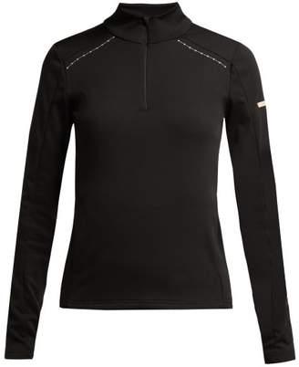 Capranea - Long Sleeve Embroidered Fleece - Womens - Black