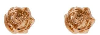 Lee Renee Tiny Rose Stud Earrings Rose Gold