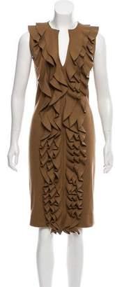 Fendi Ruffled Midi Dress