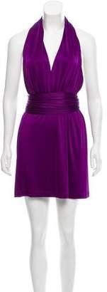 Halston Knee-Length Halter Dress