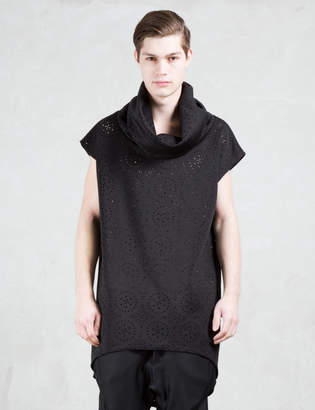 Bibi Chemnitz Black Perforated Turtleneck