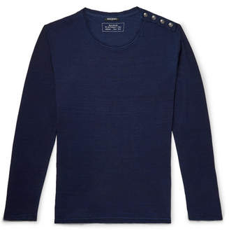 Balmain Button-Detailed Cotton T-Shirt