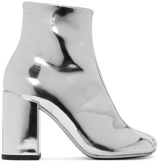 MM6 MAISON MARGIELA Silver Square Heel Boots