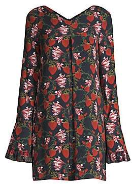 Mother of Pearl Women's Floral Bell Sleeve Mini Dress