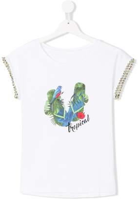 Lapin House TEEN flip-flop print T-shirt
