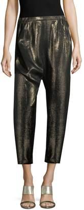 Zero Maria Cornejo Women's Metallic Crop Pants