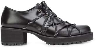 Yohji Yamamoto elasticated lace-up shoes