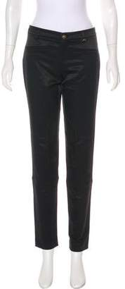 Gucci Mid-Rise Suede-Trimmed Pants