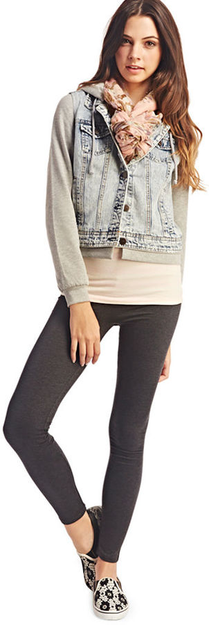 Wet Seal Heathered Ankle Legging