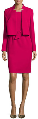Albert Nipon Belted Sheath Dress W/Matching Jacket, Raspberry $275 thestylecure.com