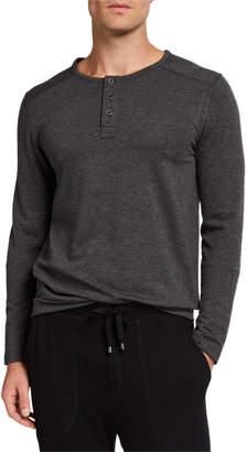 Neiman Marcus Men's Henley French Terry T-Shirt