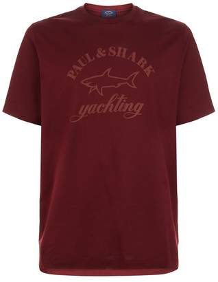 Paul & Shark Tonal Shark Logo T-Shirt