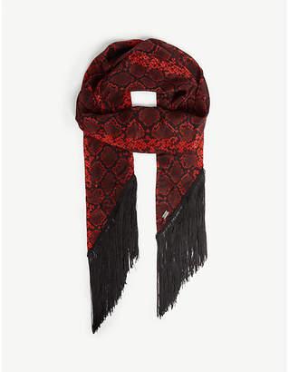 fe080eba5c6d0 The Kooples Snakeskin print silk scarf