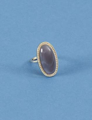 Lane Bryant Pave Oval Oblong Stone Ring