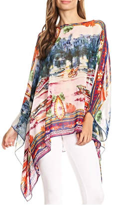 Fashion 123 European Scenic Poncho Top