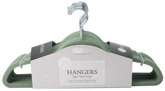 Simplify 25 Pack Slim Velvet Suit Hangers in Sage