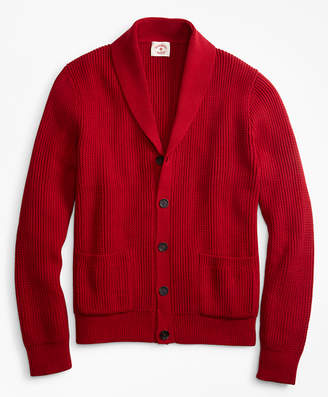 Brooks Brothers Shawl-Collar Button-Front Cardigan
