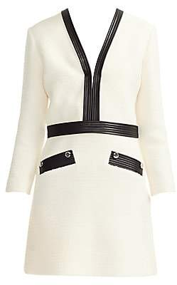 Maje Women's Remma Faux Leather-Trim Dress