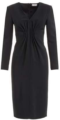 Wtr WtR Felia Black Cady Bodycon Midi Dress